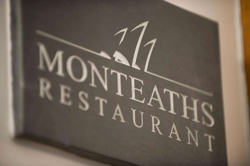 Monteaths restaurant sign at Duchally Country Estate