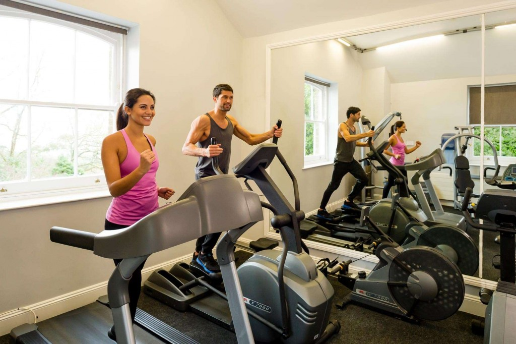Stay in shape in the modern gym at Trenython Manor