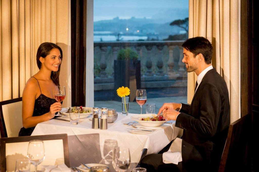 Enjoy spectacular views while dining at Trenython Manor