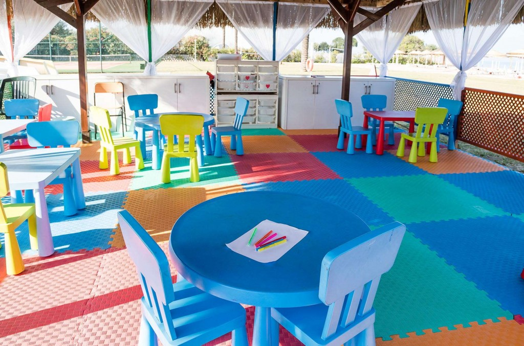 Colourful and bright play area at Team Marina