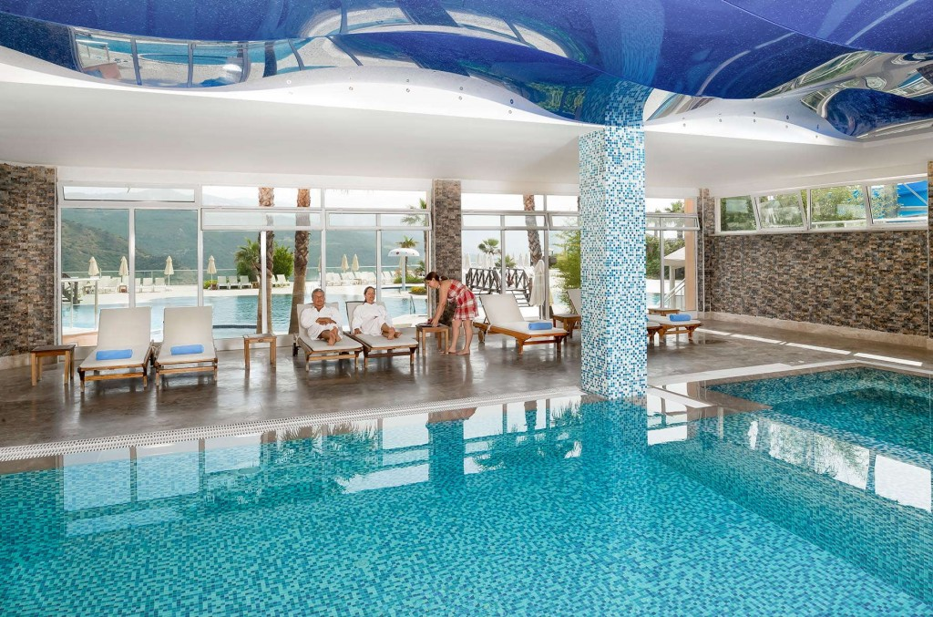 Enjoy the stunning indoor pool in CLC Kusadasi Golf & Spa