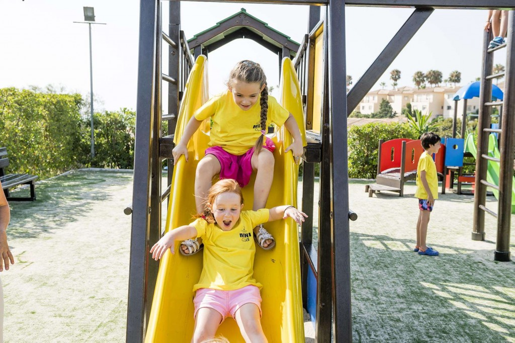 Younger guests having fun in the colourful playground