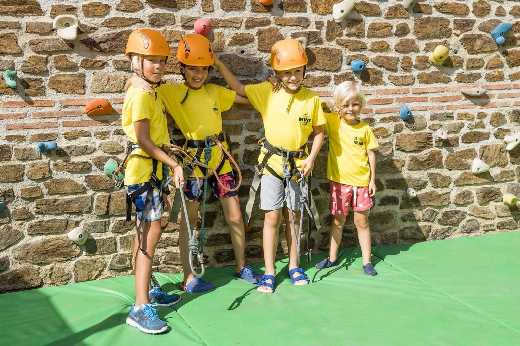 Kids enjoying some rock-climbing fun on the Costa del Sol