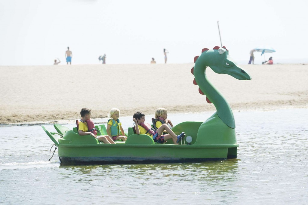 Younger guests having fun on a dragon on the Costa del Sol