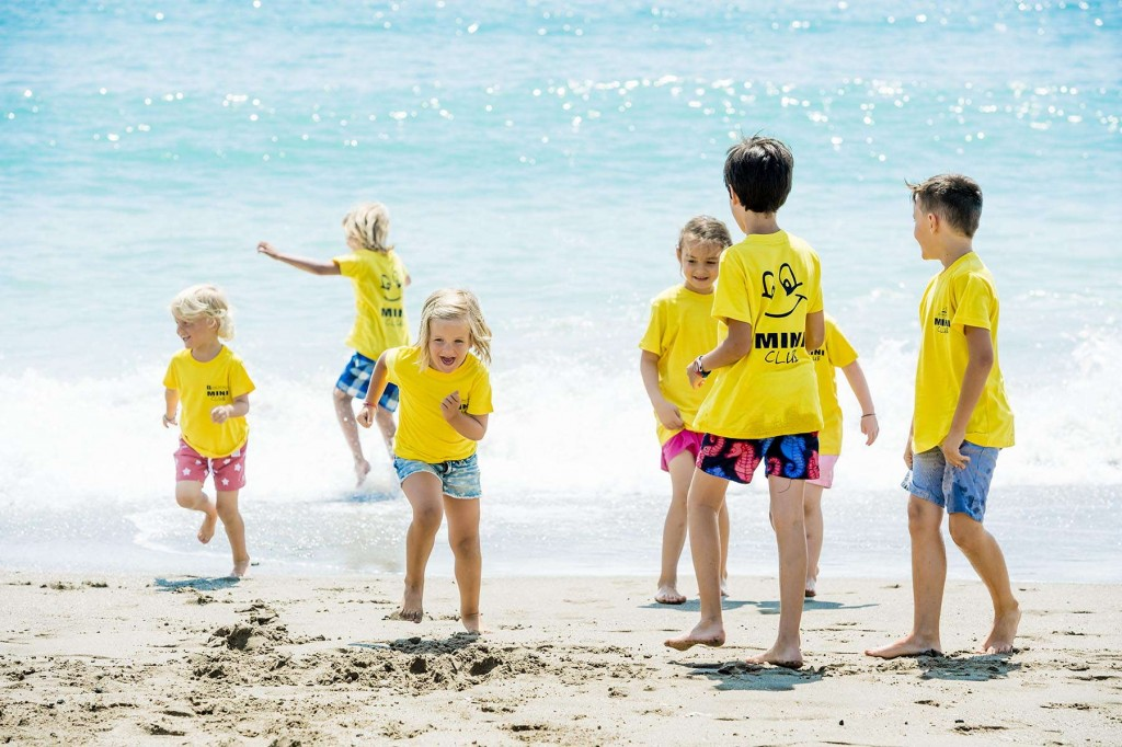 Younger guests having fun at the beach on the Costa del Sol