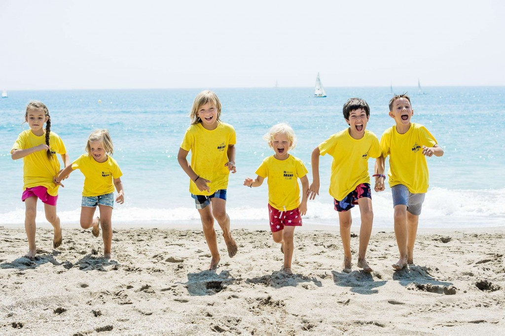 Younger guests having fun on the beach