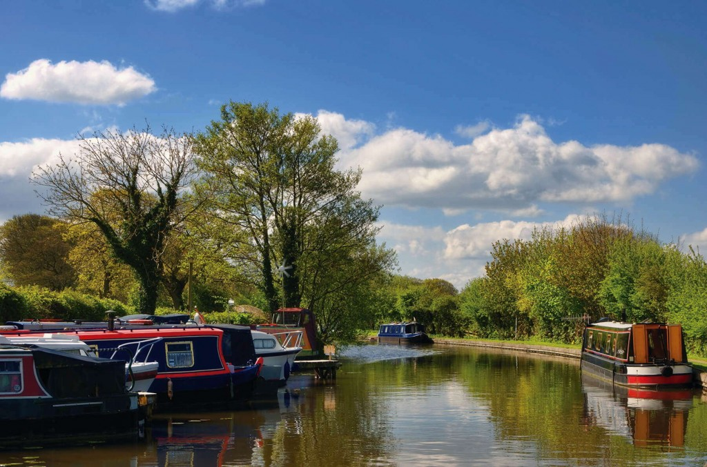 Peaceful sailing along the canal