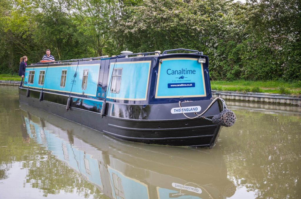 Sailing along beautiful English Canals