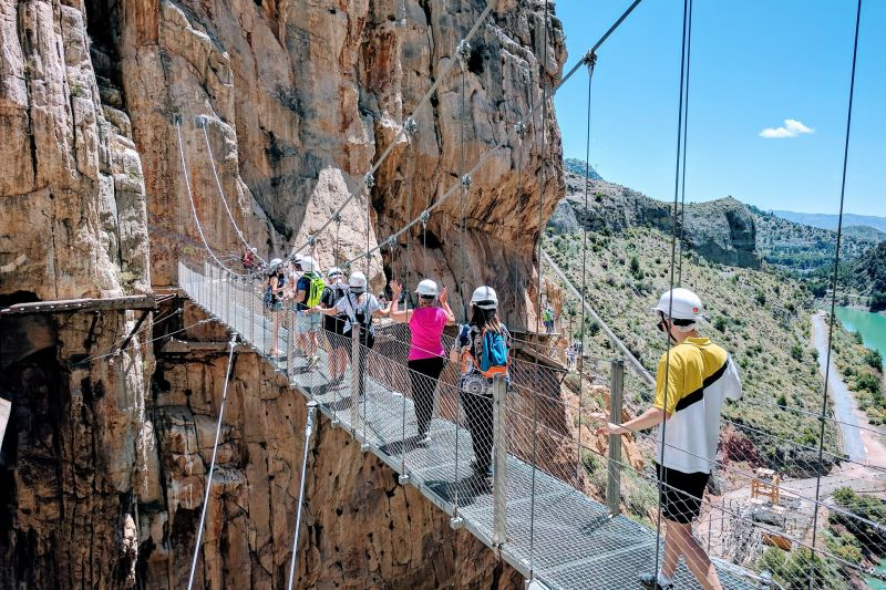 Caminito Del Rey bridge closeup