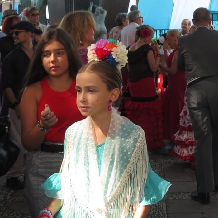 Girl at Feria El Rosario in Fuengirola