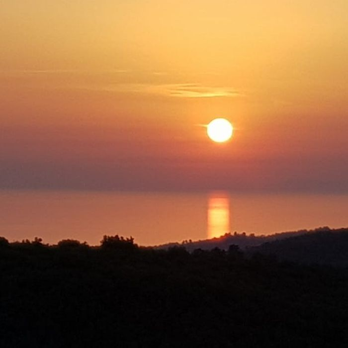 The sunset from the Clubhouse Restaurant at Kusadasi Golf & Spa resort